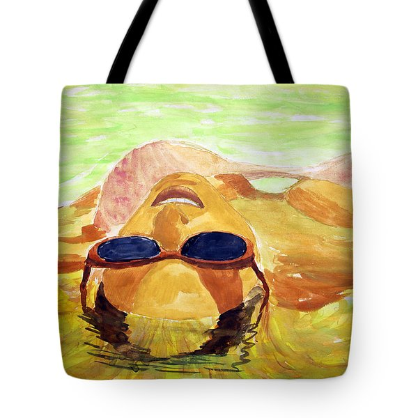 Floating In Water Tote Bag by Brian Wallace