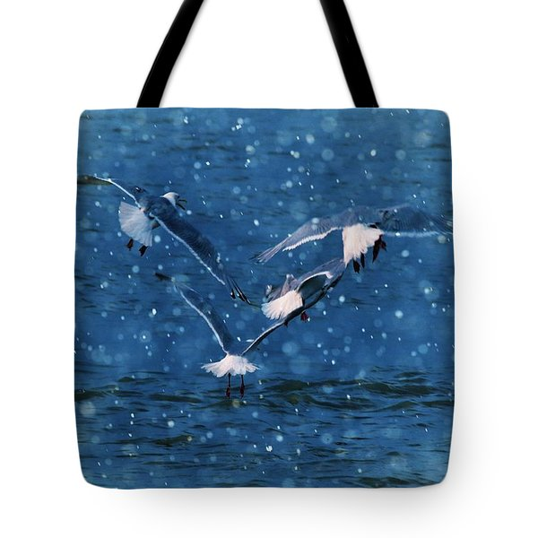 Flock  Tote Bag by Debra  Miller