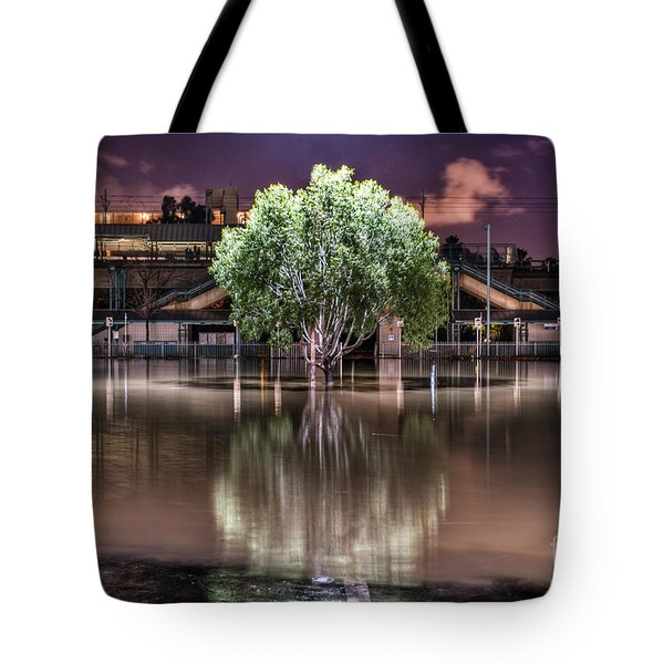 Tote Bag featuring the photograph Flooded Tree by Sonny Marcyan