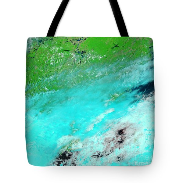 Floods In Jiangxi Province, China Tote Bag by Nasa