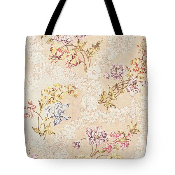 Floral Design With Peonies Lilies And Roses Tote Bag by Anna Maria Garthwaite