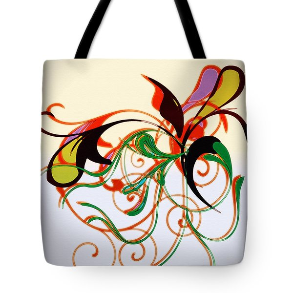 Tote Bag featuring the digital art Floral Desire by Susan Leggett