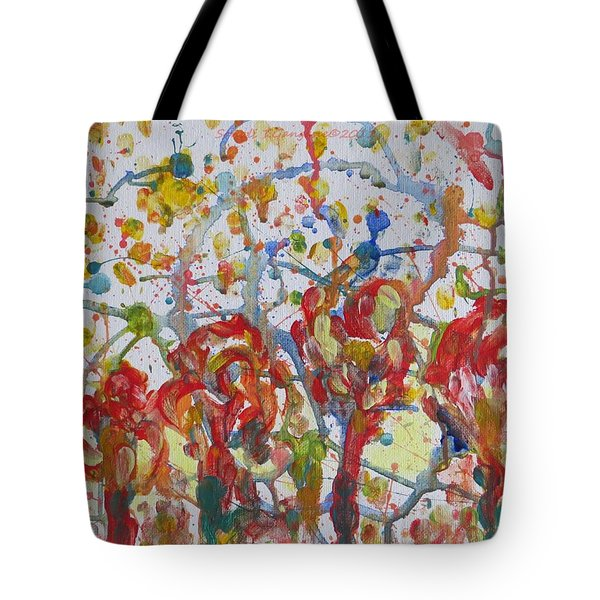 Tote Bag featuring the painting Floral Feel by Sonali Gangane