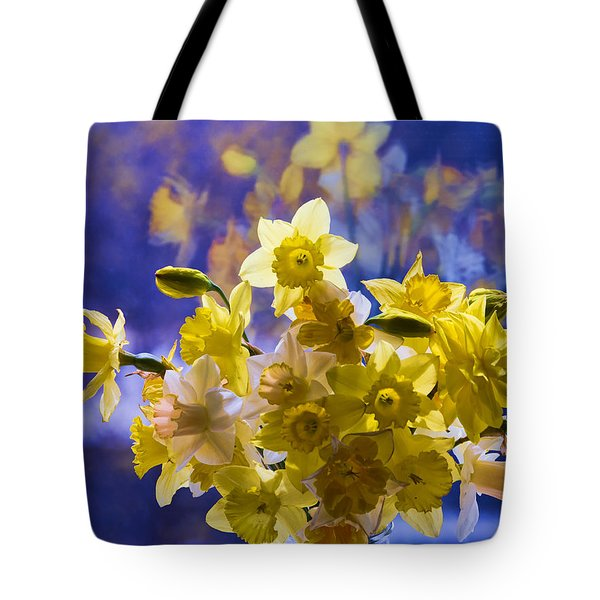Floral Reflections Tote Bag by Jo-Anne Gazo-McKim
