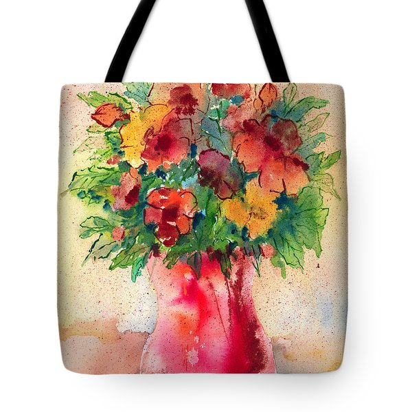 Floral Still Life Tote Bag by Arline Wagner