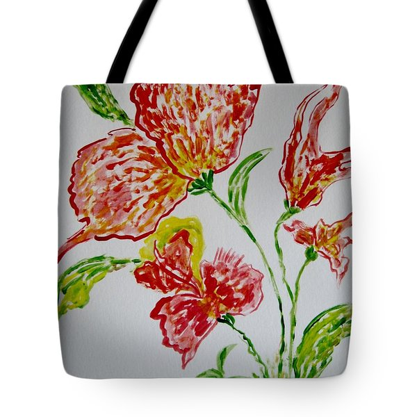 Tote Bag featuring the painting Florals by Sonali Gangane