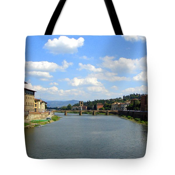 Tote Bag featuring the photograph Florence Arno River by Patrick Witz