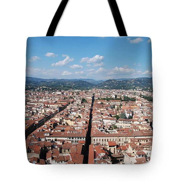 Tote Bag featuring the photograph Florence From The Duomo by Dany Lison
