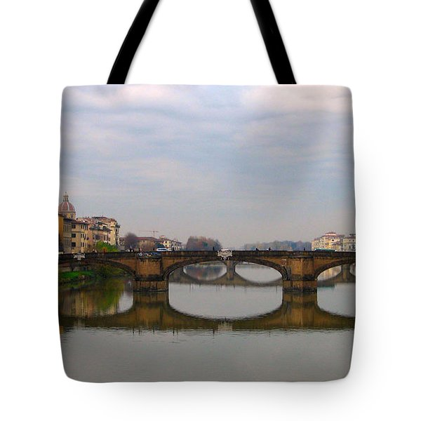 Florence Italy Bridge Tote Bag by Catie Canetti