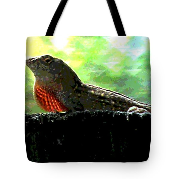 Tote Bag featuring the photograph Florida Dinosaur by George Pedro