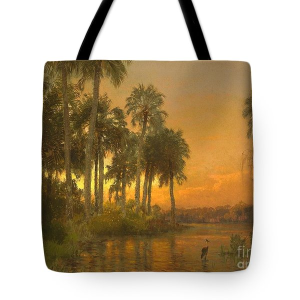 Florida Sunset Tote Bag by Pg Reproductions