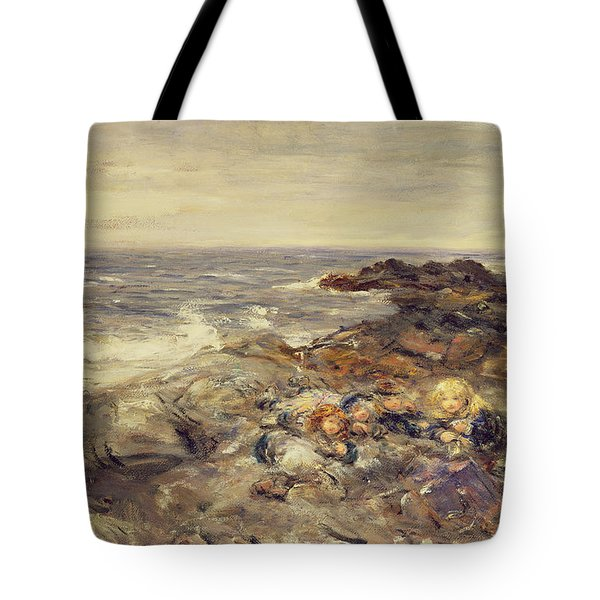 Flotsam And Jetsam Tote Bag by William McTaggart
