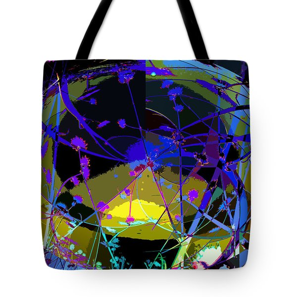 Flower Abstract Tote Bag by Anne Mott