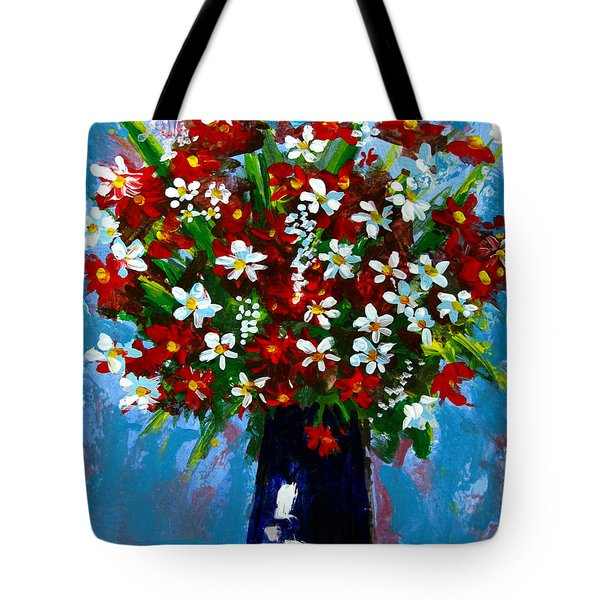 Flower Arrangement Bouquet Tote Bag by Patricia Awapara
