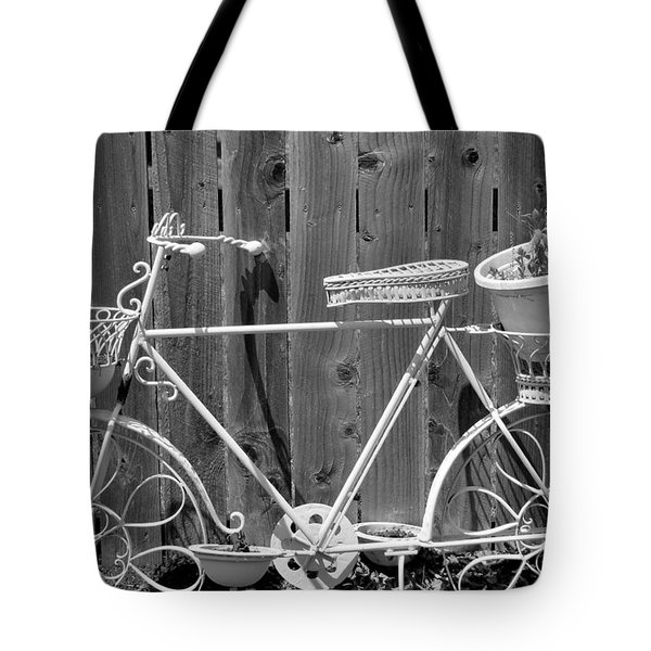 Flower Bike Tote Bag