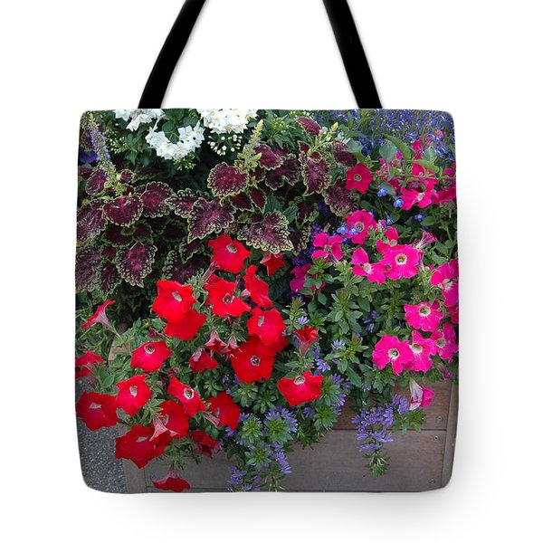 Tote Bag featuring the photograph Flower Box by Vilas Malankar