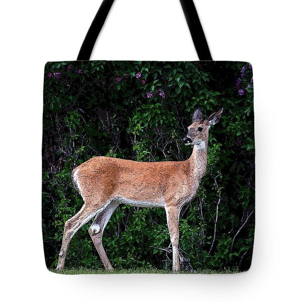 Tote Bag featuring the photograph Flower Deer by Steve McKinzie