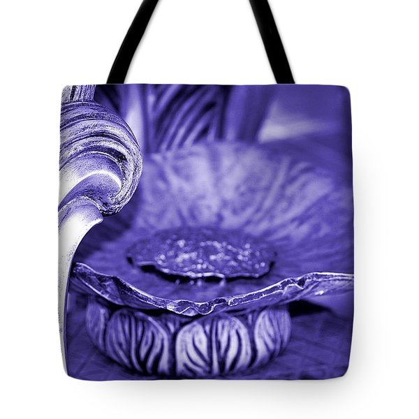 Flower In Stone Tote Bag