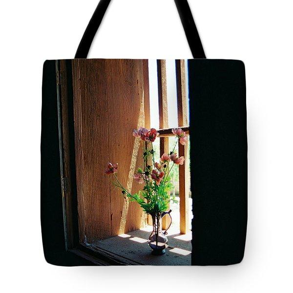Flower In Window Tote Bag