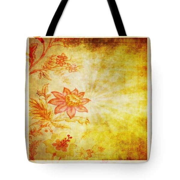 Flower Pattern Tote Bag by Setsiri Silapasuwanchai