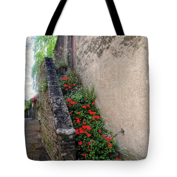 Tote Bag featuring the photograph Flower Stairway by Dave Mills