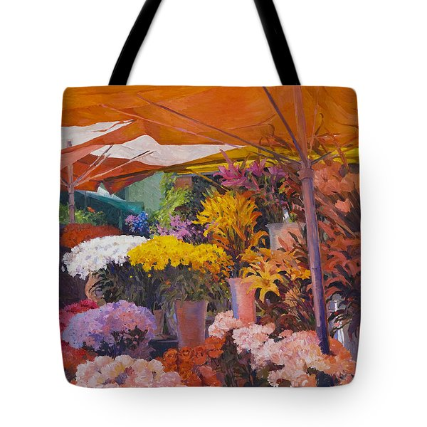 Flower Stand Tote Bag