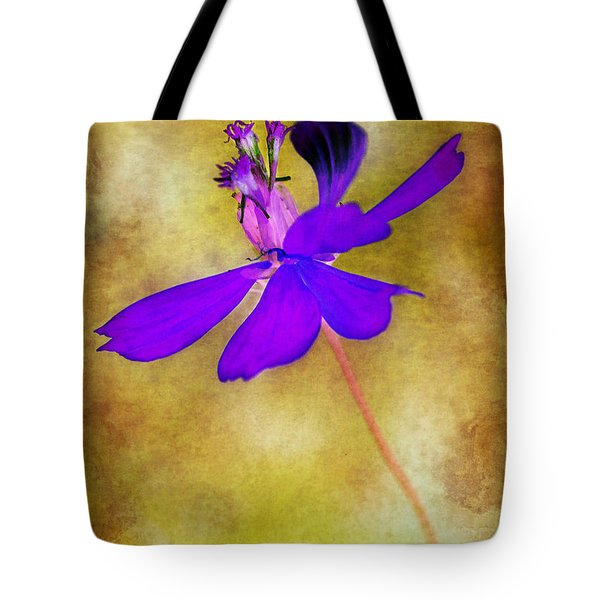 Flower Take Flight Tote Bag by Judi Bagwell