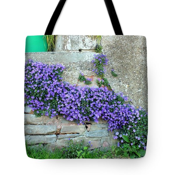 Flowered Steps Tote Bag by Rene Triay Photography