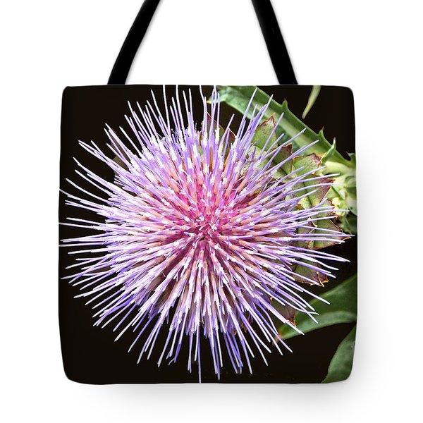 Flowering Artichoke Top View Tote Bag by Byron Varvarigos