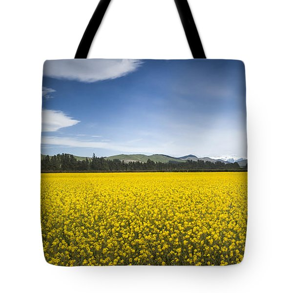 Flowering Mustard Crop In Canterbury Tote Bag by Colin Monteath