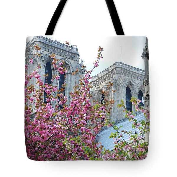 Tote Bag featuring the photograph Flowering Notre Dame by Jennifer Ancker