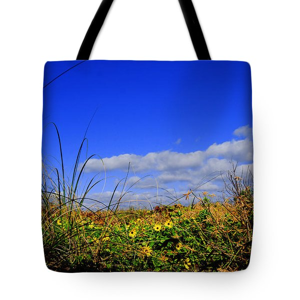 Flowers At The Beach Tote Bag