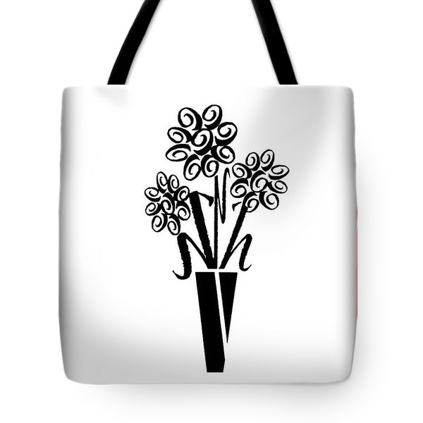 Flowers In Type Tote Bag by Connie Fox