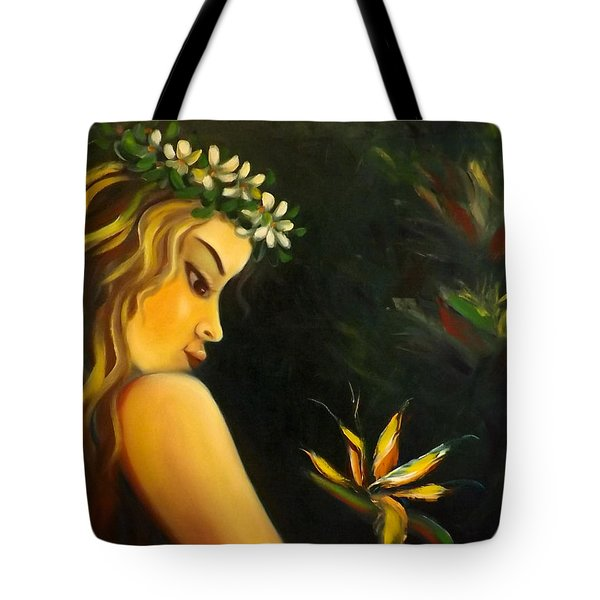 Flowers Of Paradise Tote Bag by Gina De Gorna