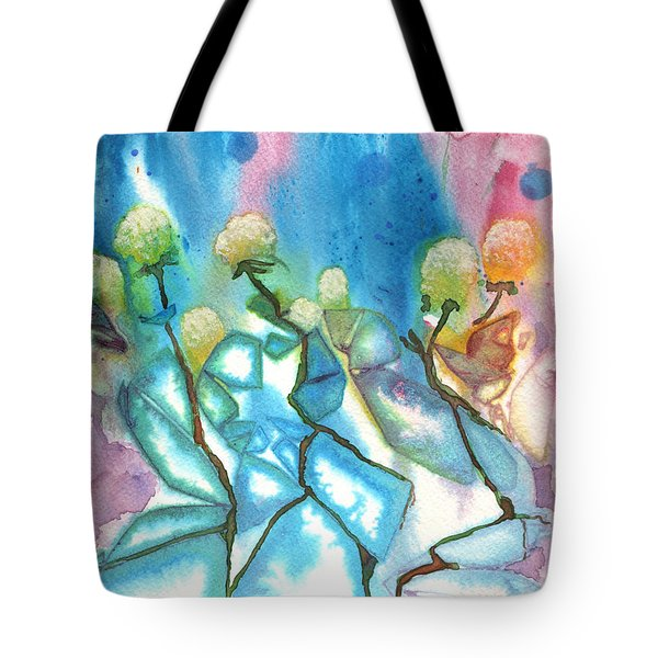 Flowers On Ice Tote Bag