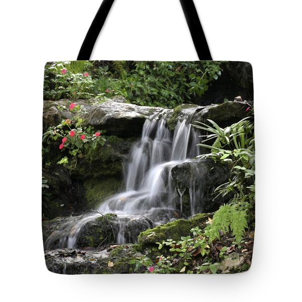 Tote Bag featuring the photograph Flowing Softly by Myrna Bradshaw