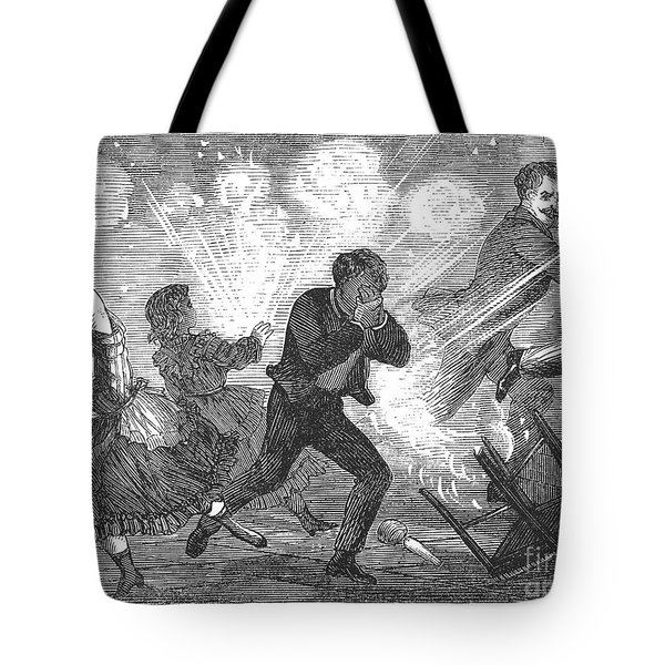 Fluid Lamp Explosion, 1868 Tote Bag by Granger