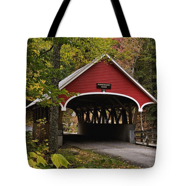 Flume Gorge Covered Bridge - D007240 Tote Bag
