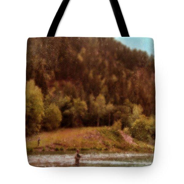 Fly Fishing Tote Bag by Jill Battaglia