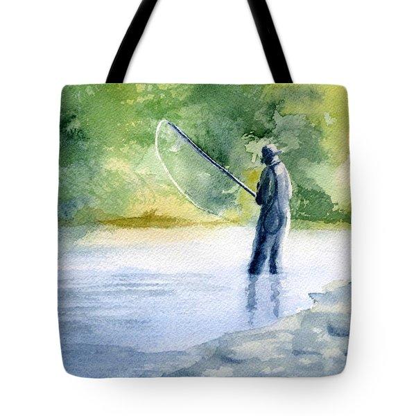 Flyfishing Tote Bag by Eleonora Perlic