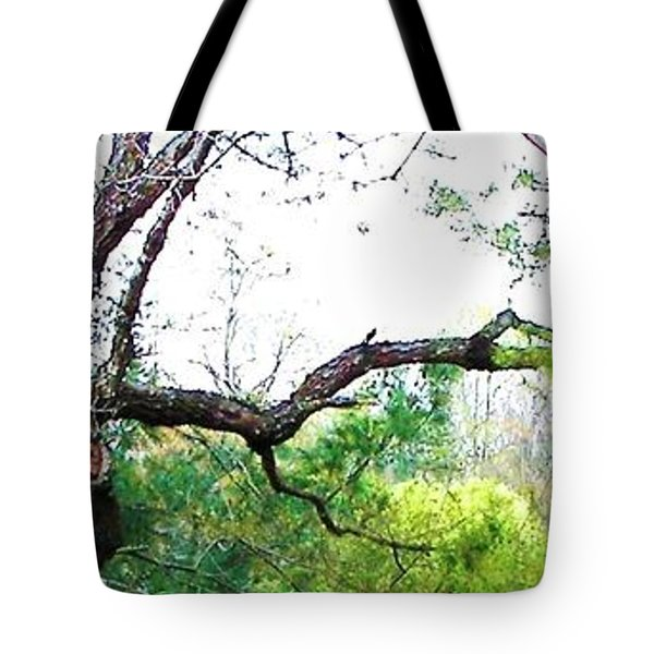 Tote Bag featuring the photograph Flying Branch by Pamela Hyde Wilson