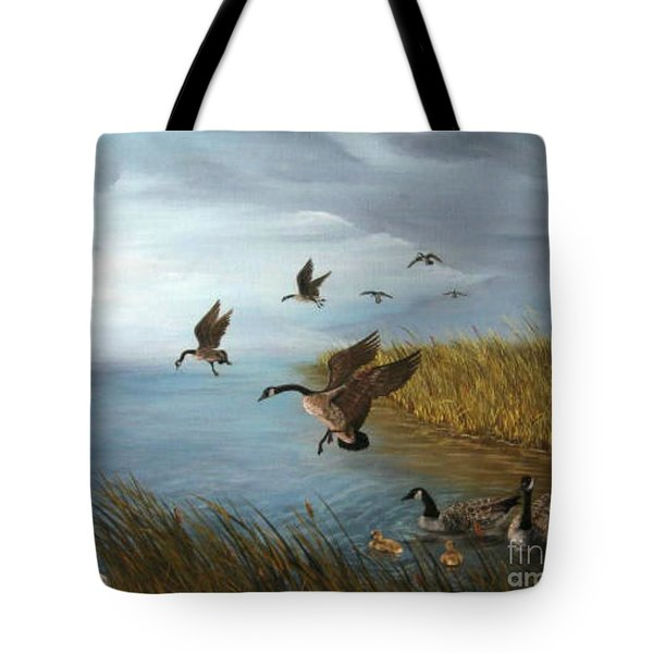 Flying Geese Tote Bag