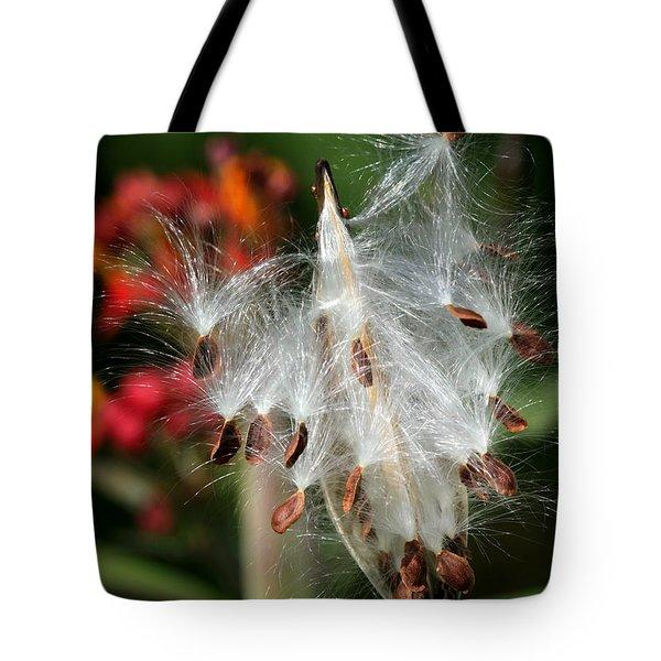 Flying Milkweed Silk Tote Bag by Sabrina L Ryan