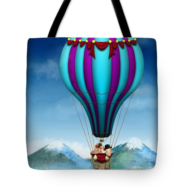 Flying Pig - Balloon - Up Up And Away Tote Bag by Mike Savad