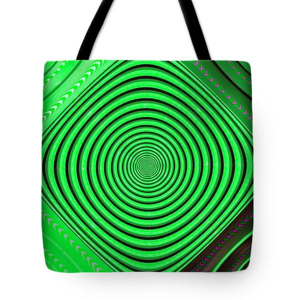 Focus On Green Tote Bag by Carolyn Marshall
