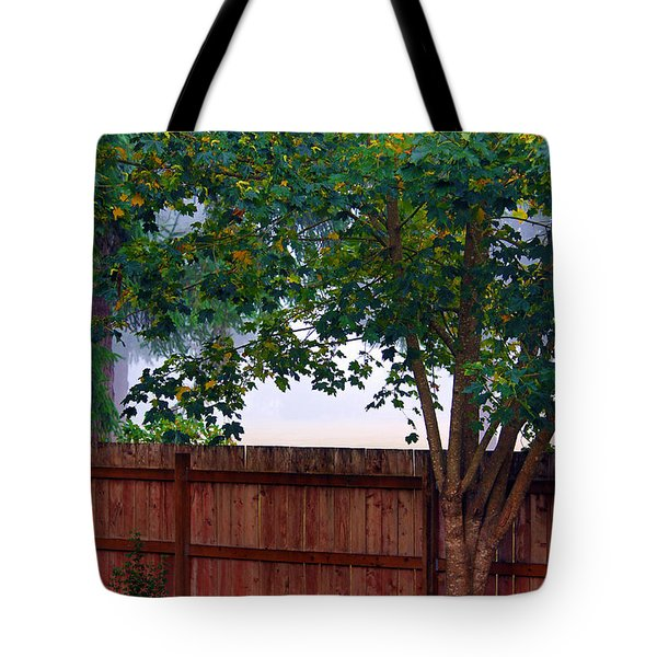 Fog In Olympia Tote Bag by Jeanette C Landstrom