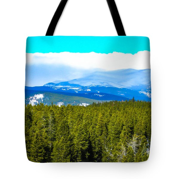 Tote Bag featuring the photograph Fog In The Rockies by Shannon Harrington