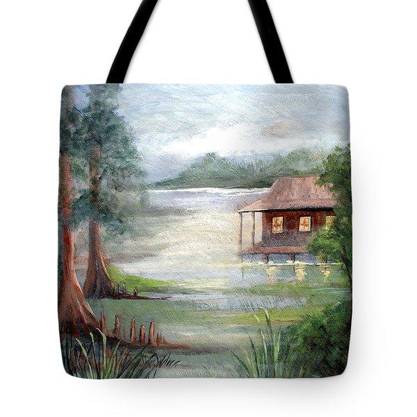 Fog On The Bayou Tote Bag by Elaine Hodges