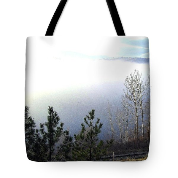 Fog On Wood Lake Tote Bag by Will Borden