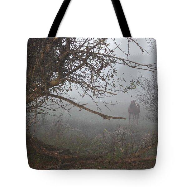 Foggy Horse Tote Bag